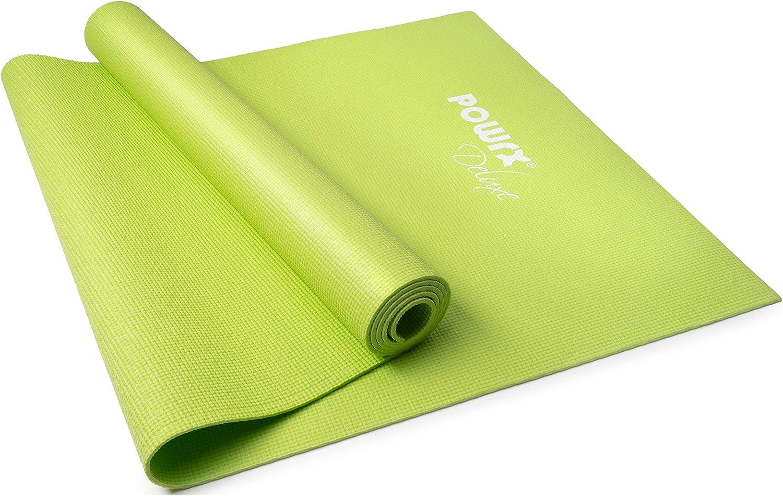 Tragebeutel f/ür Yoga Pilates und Fitness in Grau//Rosa GORILLA SPORTS/® Yogamatte faltbar 173 x 61 x 0,4 cm TPE rutschfest Gymnastik-Matte extra d/ünn inkl