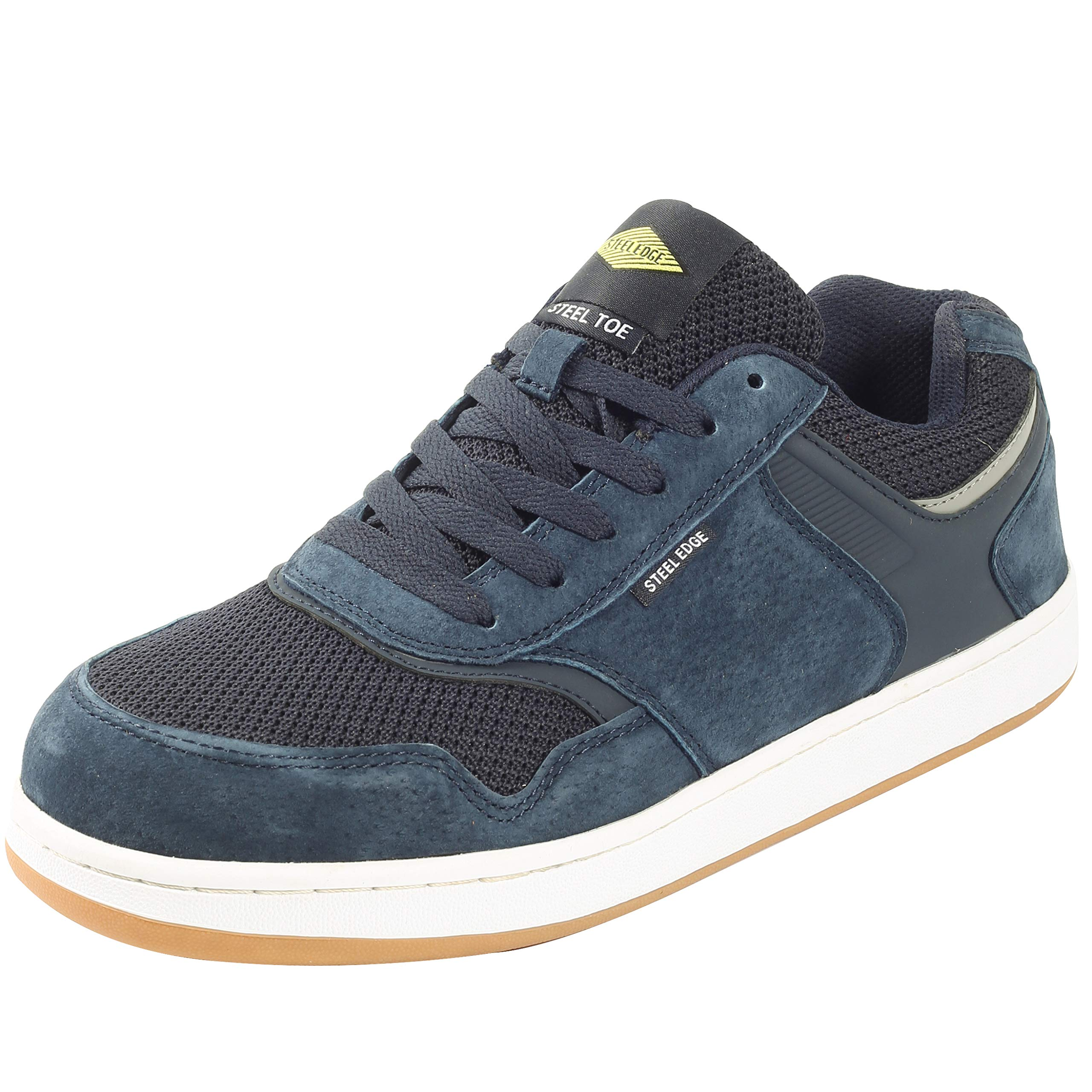 Safety Toe Athletic Shoes - Skater Style, Steel Toe Shoe Sneakers (9.5, Blue) by Steel Edge