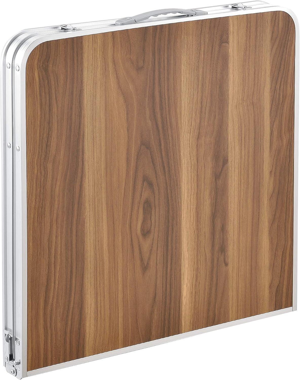 /® Table de Camping Pliable en Aluminium et MDF avec Hauteur R/églable Table de Jardin Couleur Blanc casa.pro