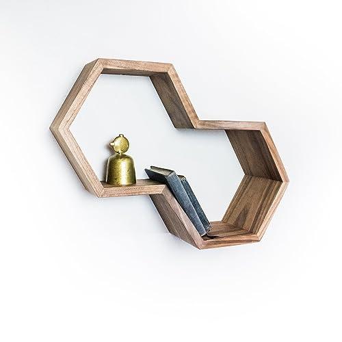 Amazon Com Dual Hexagon Shelf Handmade