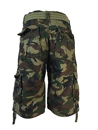 e3c9b7300d Men's FOCUS Army Camo Cargo Shorts Sizes: 30 - 44 (32, GREEN CAMO