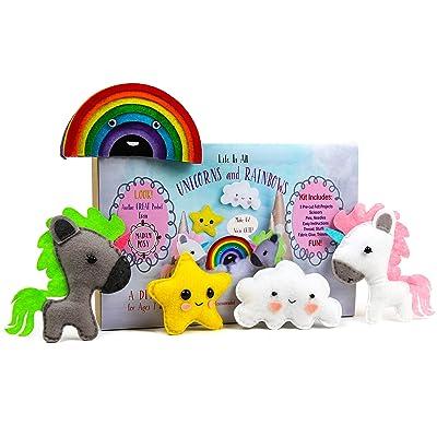 Madam Posy Design Sewing KIT for Kids: DIY Crafts Unicorns Stuffed Animal Sewing Crafts Kit for Girls Boys Kids Age 6-12: Toys & Games