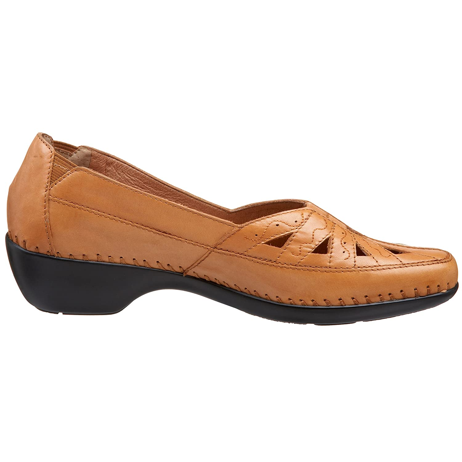 Easy Spirit Women's Dixiee Flat B001BKGTFS 7 B(M) US|Medium Brown Leather
