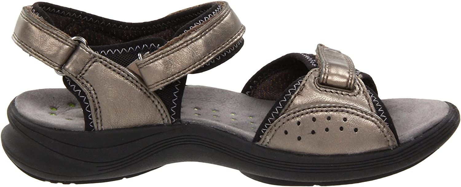 Clarks Women's Wave.Whisk Sandal, Pewter Leather, 8 W US: Buy Online at Low  Prices in India - Amazon.in