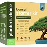 Planters' Choice Bonsai Starter Kit - The Complete Kit to Easily Grow 4 Bonsai Trees from Seed with Comprehensive Guide & Bam