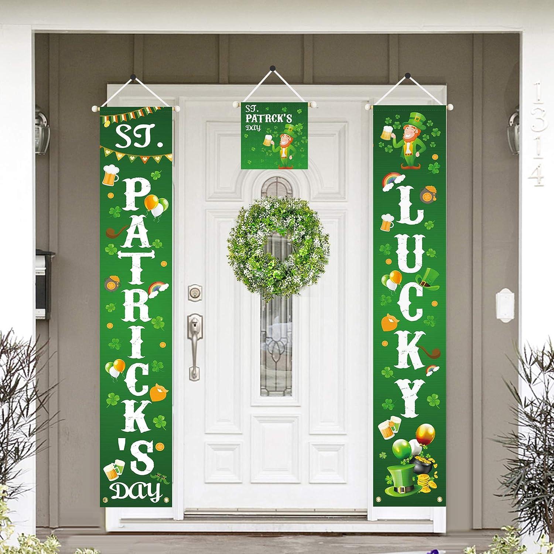Door poster  door plaque  hand-painted decorative panel  Celtic horse  metalic green and black  triskel