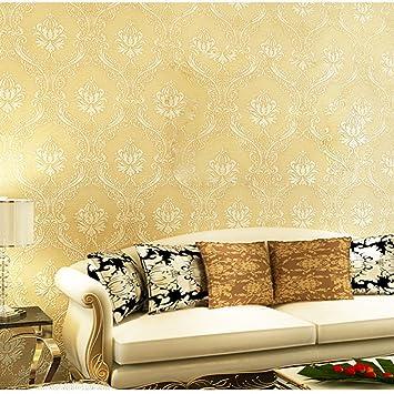 Moderne Damaskus Tapete Nonwovens Blumen Tapete Wohnzimmer 3D ...