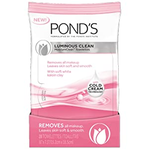 Pond's Moisture Clean Towelettes, Luminous Clean 28 ct (Pack of 3)