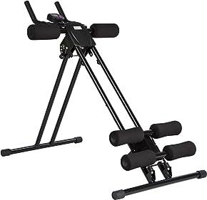 Ultrasport Bauchtrainer Ultra 150 - Power AB Trainer, Fitnessgerät für zuhause zur Unterstützung beim Abnehmen, Trainieren der Bauchmuskeln sowie Rücken und Schultern, faltbar