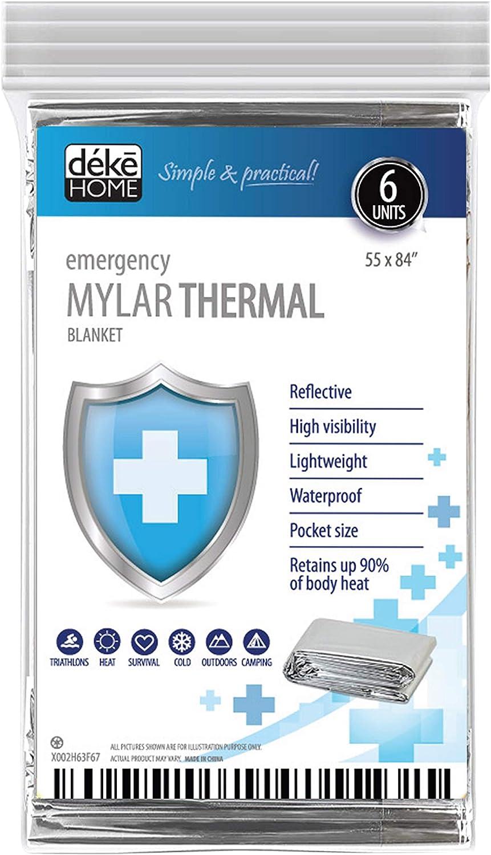 Foil Blanket Emergency Survival Thermal Heat Camping Waterproof Cover Hiking Car