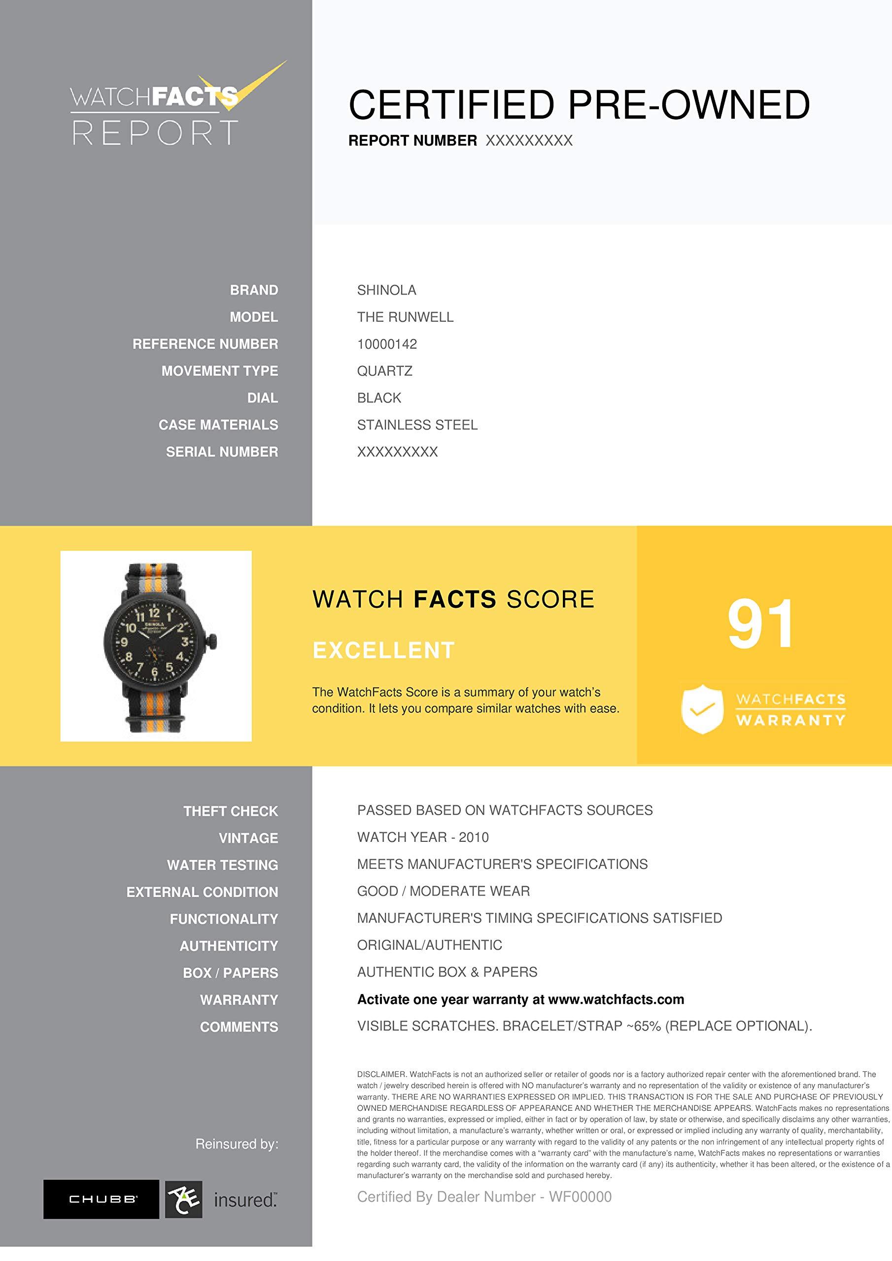 Shinola The Runwell Quartz Male Watch 10000142 (Certified Pre-Owned) by Shinola (Image #5)