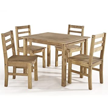 Cool Manhattan Comfort Maiden Collection Reclaimed Traditional Modern 5 Piece Pine Wood Dining Set 4 Chairs And 1 Table Wood Alphanode Cool Chair Designs And Ideas Alphanodeonline