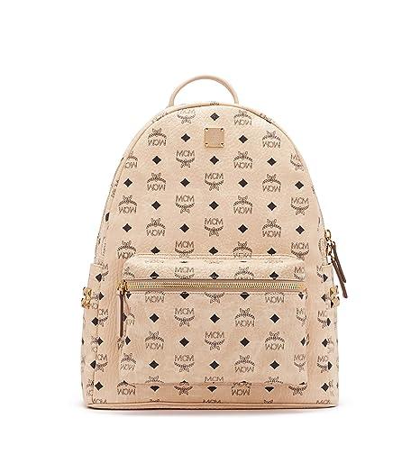 67755c32bfce MCM Stark Studded Logo Backpack Beige O S  Amazon.ca  Luggage   Bags