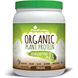 PlantFusion Organic Plant Based Protein & Fermented Foods Powder, Chocolate, 1 lb Tub, 15 Servings, 1 Count, USDA Organic, Vegan, Gluten Free