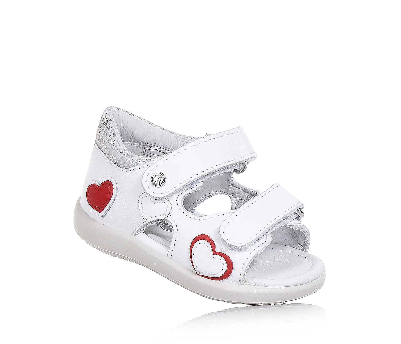 Falcotto Sandalo Bianco in Pelle, Ideale per Il Primo Passo e per Il Gattonamento, con Doppia Chiusura, Bambina, Neonata, Ragazza-19