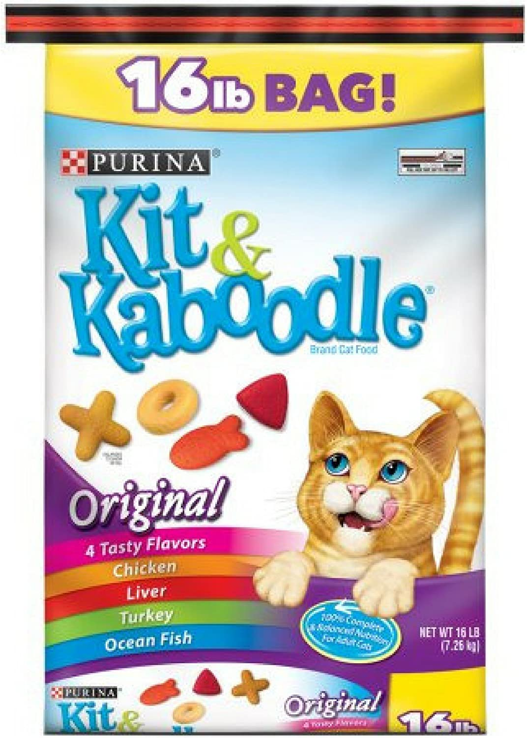 Purina Kit & Kaboodle Original Adult Dry Cat Food, 16 lb