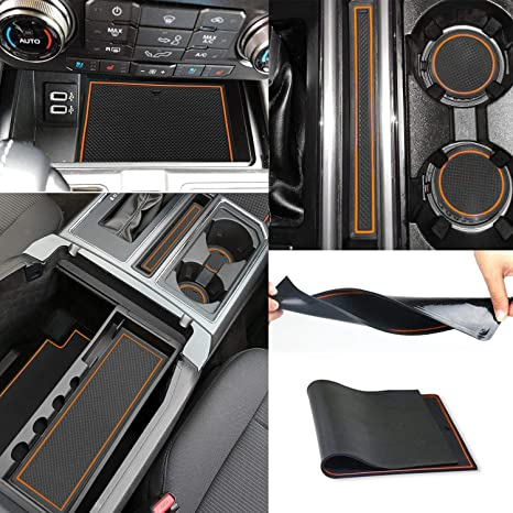 Auto Replacement Parts 29pcs Door Mats Gate Slot Mat Cup Pads Non-slip For Ford F 150 2015 2015-2018
