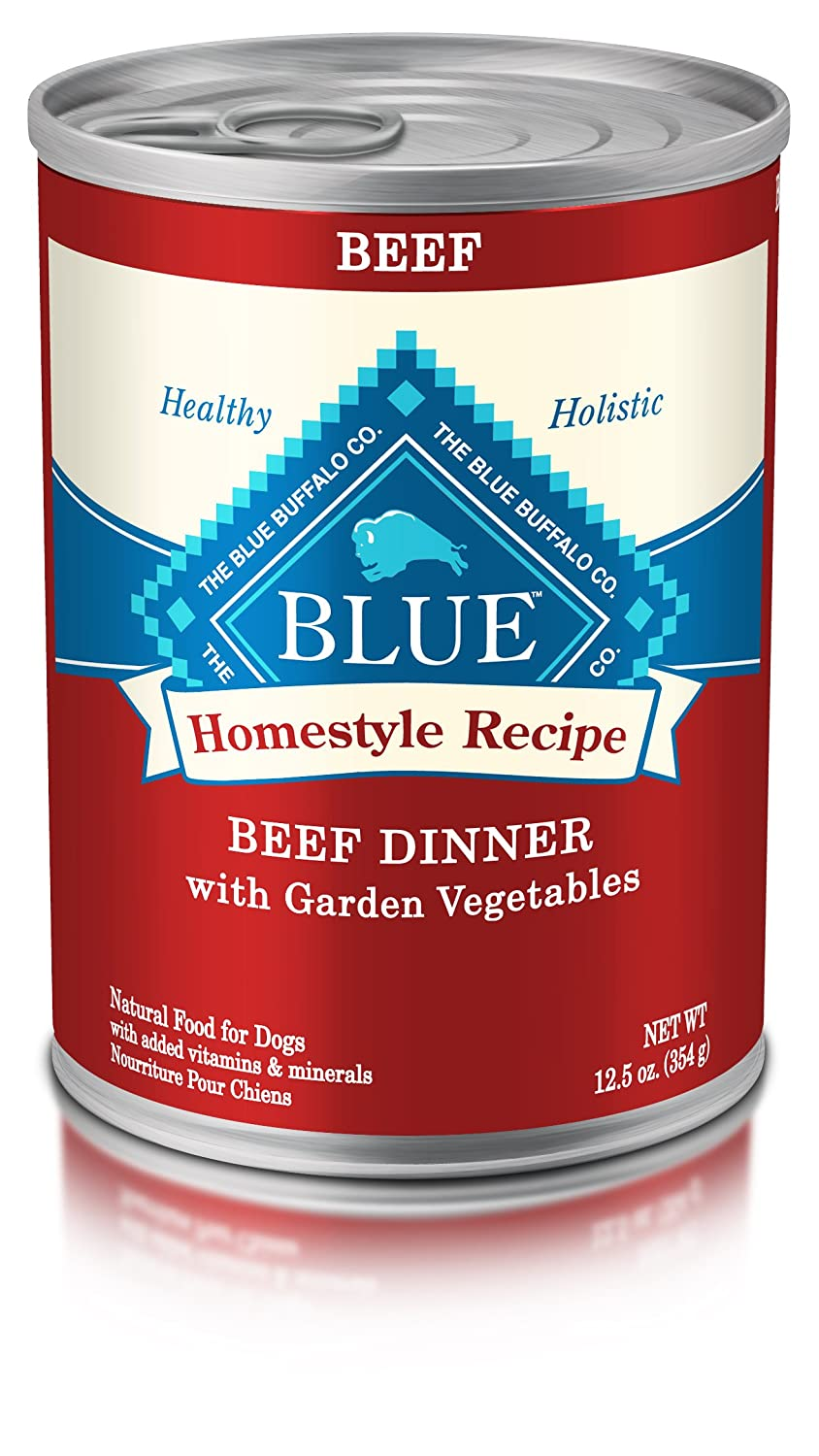 Blue Buffalo BLUE Homestyle Adult Beef Wet Dog Food 12.5-oz (Pack of ...