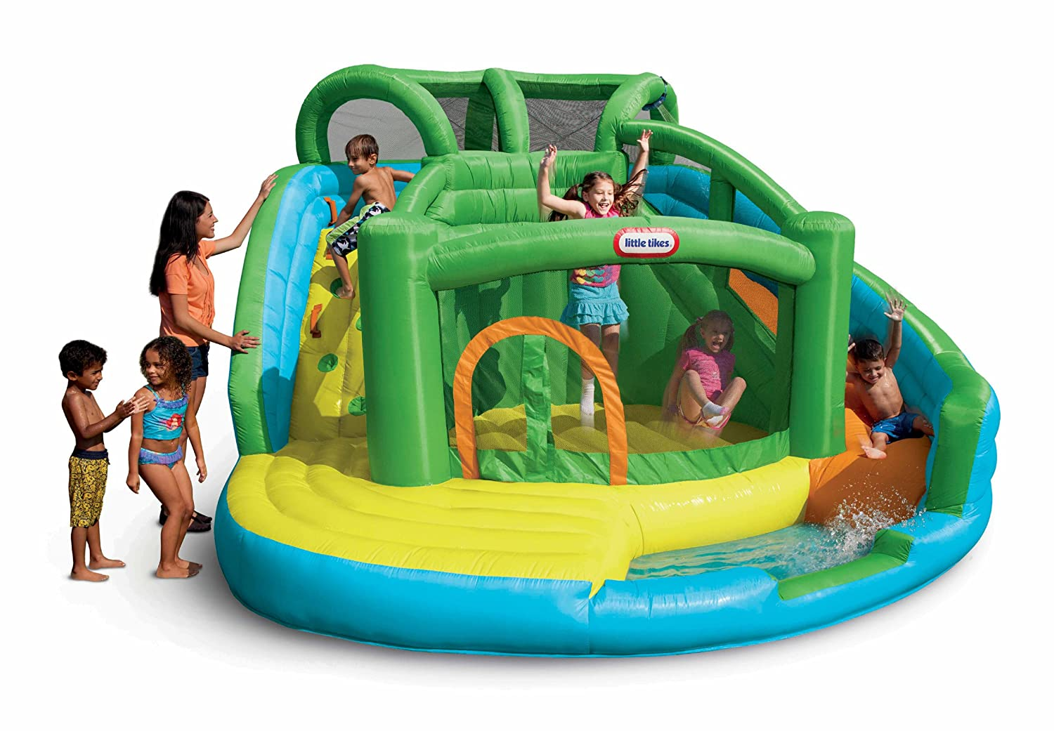Amazon.com: Little Tikes 2 In 1 Wet U0027n Dry Inflatable Bouncer: Toys U0026 Games