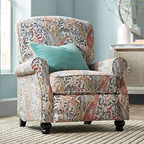 Amazon.com: Coral Paisley Push silla reclinable de espalda ...