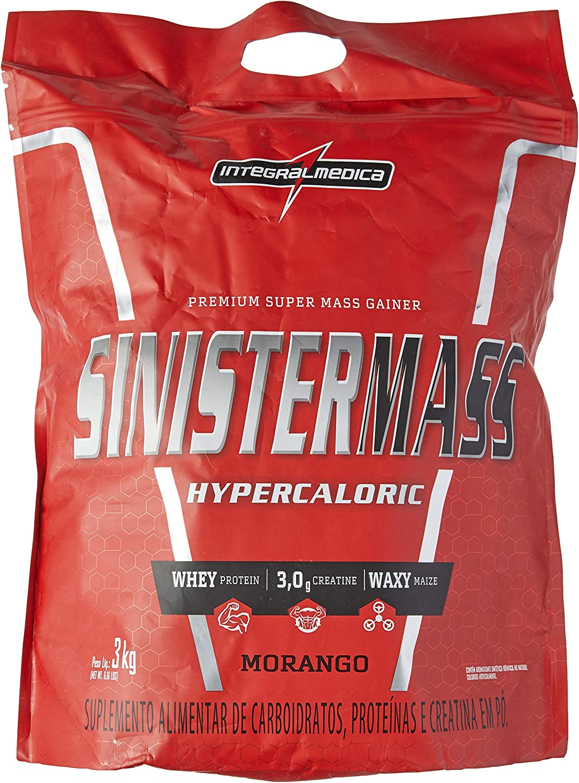 Sinister Mass Morango, Integralmedica, 3000g por Integralmedica