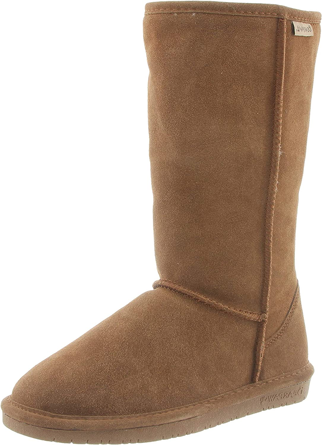 Bearpaw Casual Boots Girls Elle Tall Knee high Youth HIckory Cow Suede Fur