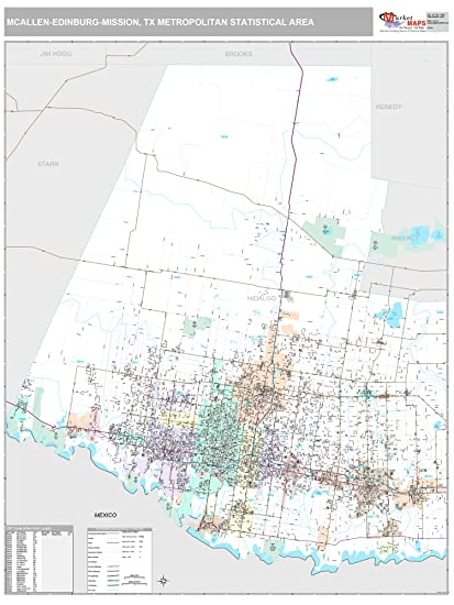 Amazon Com Marketmaps Mcallen Edinburg Mission Tx Metro Area Wall