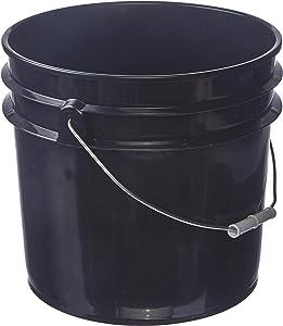 Hudson Exchange Premium 3.5 Gallon Bucket, HDPE, Black