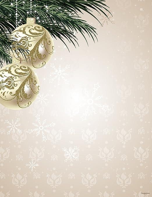 christmas letterhead background