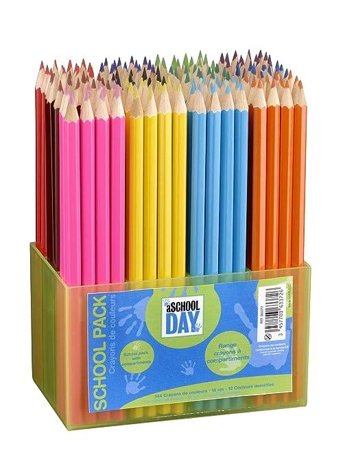 65 opinioni per Jpc Créations Schoolpack 363372- Set di pastelli, 144 pezzi, colori assortiti