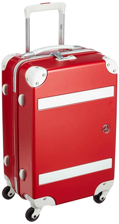 [プラスワン] 軽量スーツケース ピースパッセンジャー 36L 2.8kg 1泊~3泊対応 LCC機内持込み対応可 機内持込可 36L 49cm 2.8kg 8170-49  アップルレッド B01EHNXGS8
