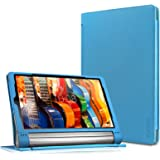 Lenovo Yoga Tab 3 Plus / Lenovo Yoga Tab 3 Pro 10 Case - Infiland Folio Premium PU Leather Stand Cover Fit for Lenovo Yoga Tab 3 Plus 10.1/ Lenovo Yoga Tab 3 Pro 10.1-Inch Tablet, Blue