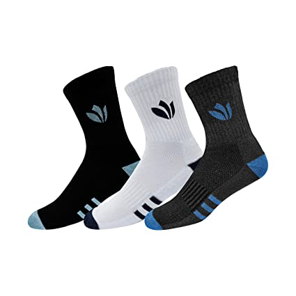 Fresh Feet Organic Combed Cotton Daily Wear Mid-Calf Socks - Pack of 3