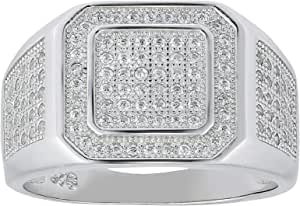 AK JEWELS Men's Cubic Zirconia Fashion Rings