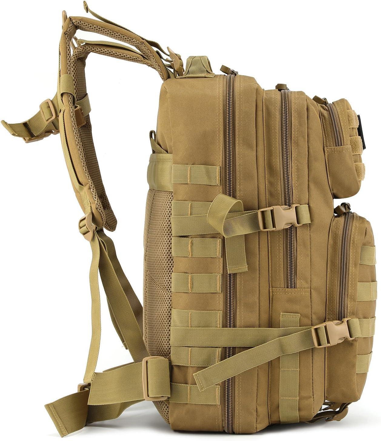 Barbarians Gonex 35L Sac /à Dos Sport Militaire Sac Tactique Sac Journ/ée Imperm/éable pour Camping Randonn/ée Compartiment pour Ordinateur Portable Kaki