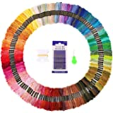 Embroidery Floss 150 Skeins SOLEDI Embroidery Thread Rainbow Colors Cross Stitch Threads for Friendship Bracelets with Embroidery Tools