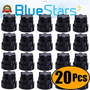 Ultra Durable 00618112 00637940 Rubber Grate Feet Replacement Part by Blue Stars - Exact Fit For Thermador & Bosch Range/Gas Range/Gas Cooktop - Replaces 1999626 617174 618112 PS3478553 - PACK OF 20