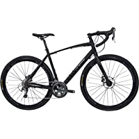 Tommaso Illimitate Shimano Tiagra Gravel Adventure Bike With Disc Brakes And Carbon Fork Perfect For Road Or Dirt Trail Touring, Matte Black