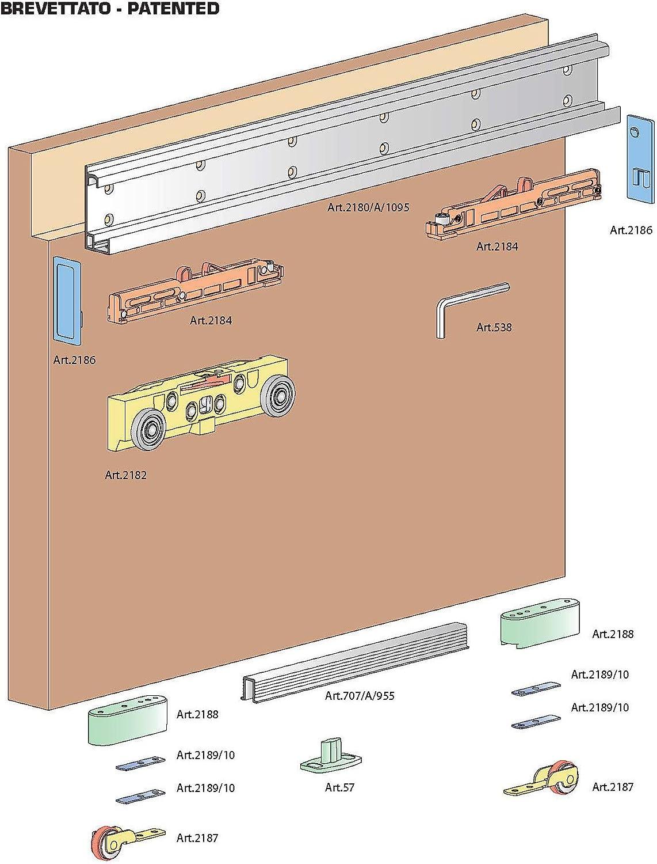 Deslizante Invisible para puerta Magic de 1800Terno correderas