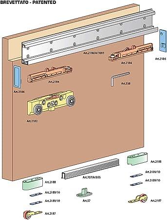 Deslizante Invisible para puerta Magic de 1800 Terno correderas: Amazon.es: Hogar