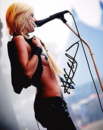 The Pretty Reckless Taylor Momsen reprint SIGNED sexy 8x10