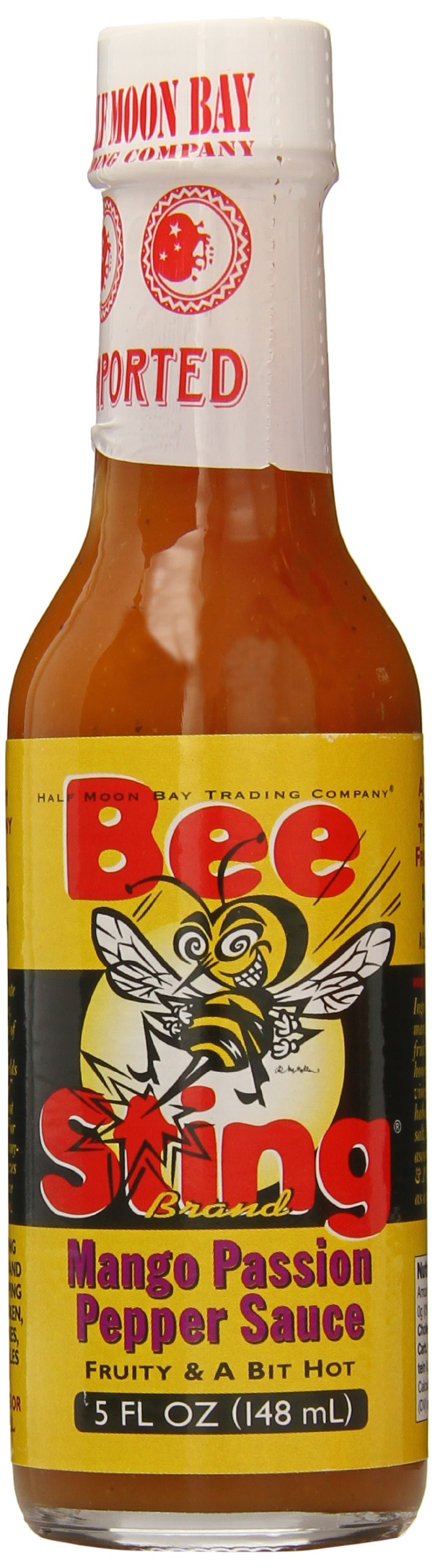 Bee Sting Pepper Sauce, Mango Passion, 5 Ounce