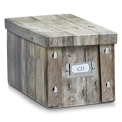 Zeller 17865 Caja de almacenaje de cartón Marrón (Braun) 16.5 x 28 x 15