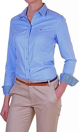 Gant - Camisa Mujer Slim azul cielo 40: Amazon.es: Ropa y accesorios