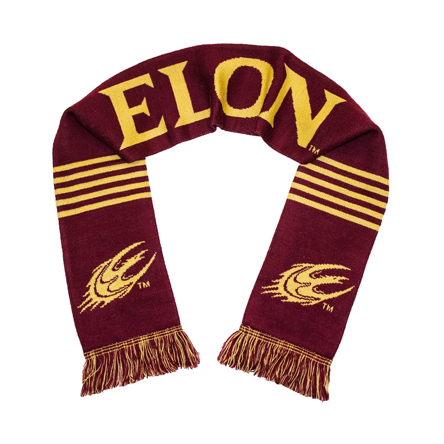 Tradition Scarves Elon Phoenix Scarf Elon University Knitted