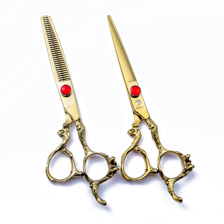 Professional Barber Salon Hair Cutting Shear and Thinning Texturizing  Scissors Shears Set - 4.4 Inch