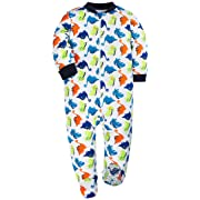 YXD Baby Cute Boy Dinosaur Non-Slip Footed Pajamas Soft Cotton Blanket Sleeper Pjs Jumpsuit Clothes (0-3Months)