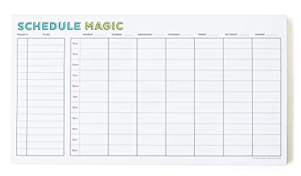 amazon com schedule magic weekly to do list notepad 52 tear off