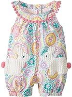 Mud Pie Baby Girls' Bunny Pocket Romper