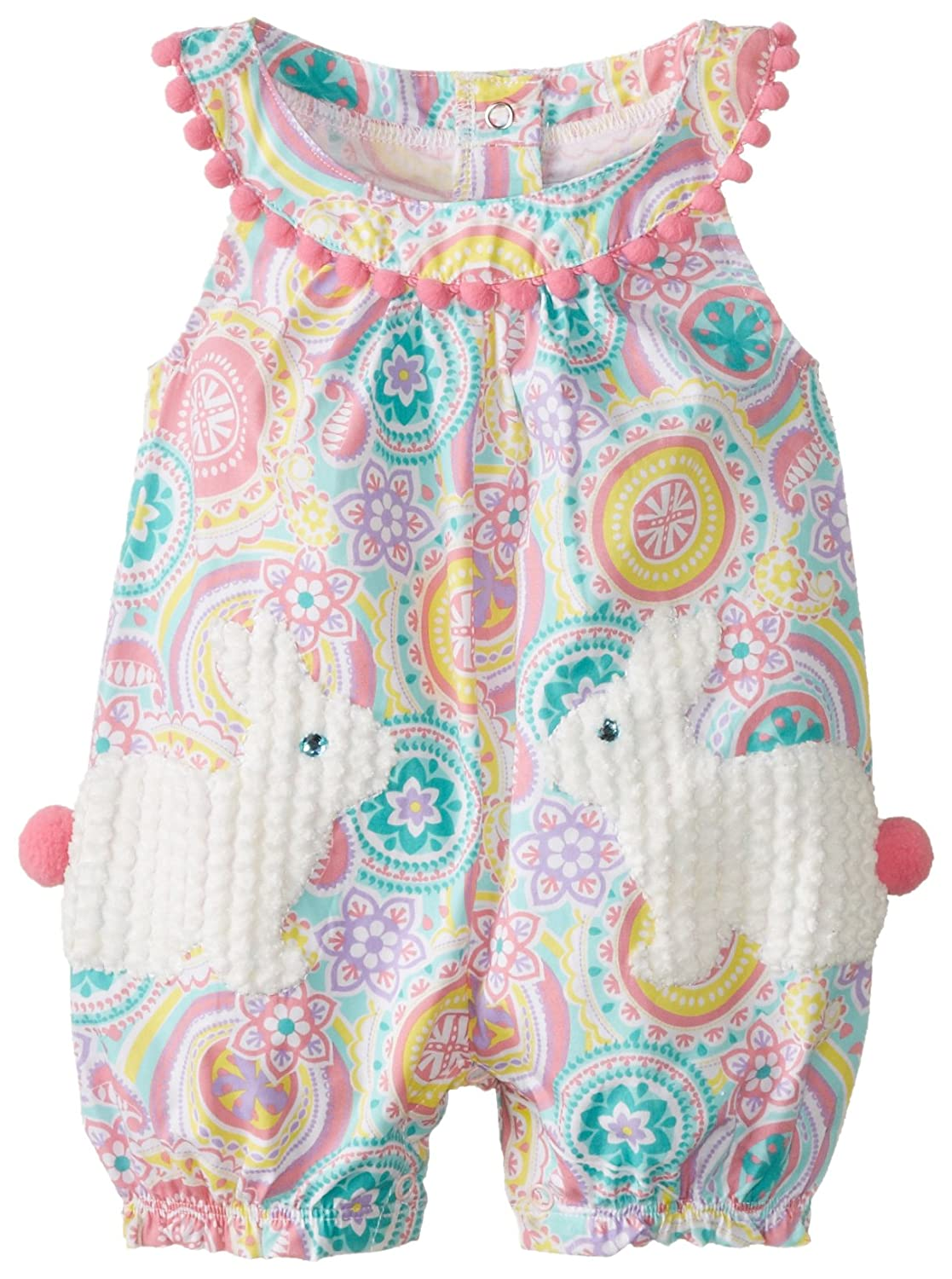 Amazon mud pie baby girls bunny pocket romper clothing negle Image collections
